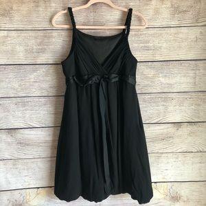 BCBG Maxazria Black Beaded Bubble Hem Dress